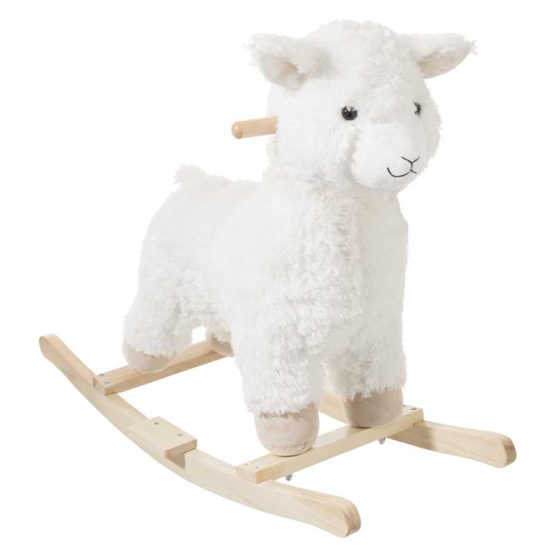 Lama à bascule en bois Blanc BeToys