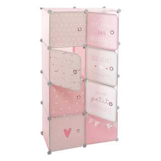 Rangement avec Penderie Rose Atmosphera For Kids