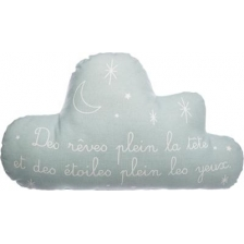 Coussin en forme de nuage phosphorescent gris clair Atmosphera For Kids