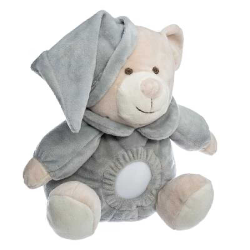 Veilleuse Doudou Ours doux Gris Atmosphera For Kids