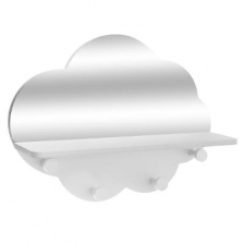 Patère en Forme de Nuage avec Miroir Blanc Atmosphera For Kids
