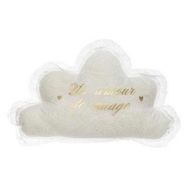 Coussin en Forme de Nuage Tulle Blanc Atmosphera For Kids