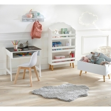Bibliothèque enfant en bois Nuage Atmosphera Blanc