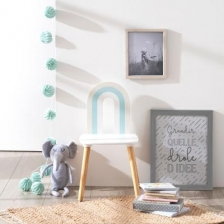 Chaise Arc en Ciel Bleu Atmosphera For Kids