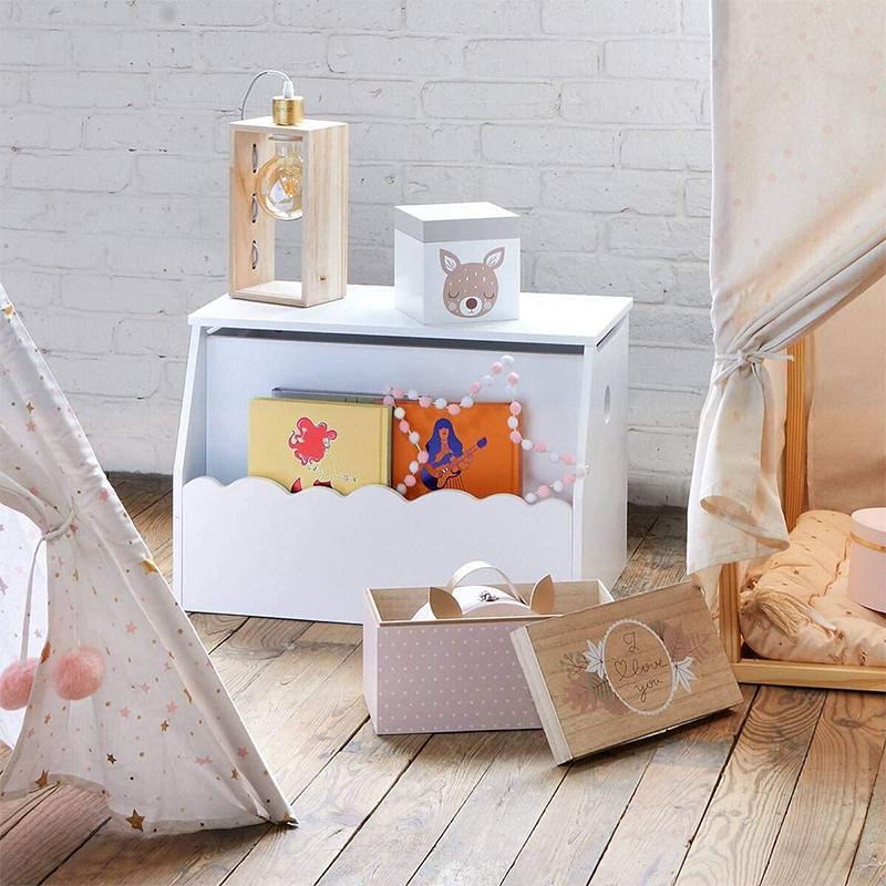 Coffre a jouets bibliothèque blanc Atmosphera For Kids