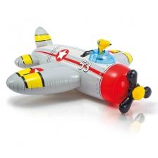 Matelas gonflable Avion à chevaucher avec pistolet a eau Gris
