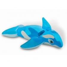 Matelas gonflable en forme de petite baleine a chevaucher
