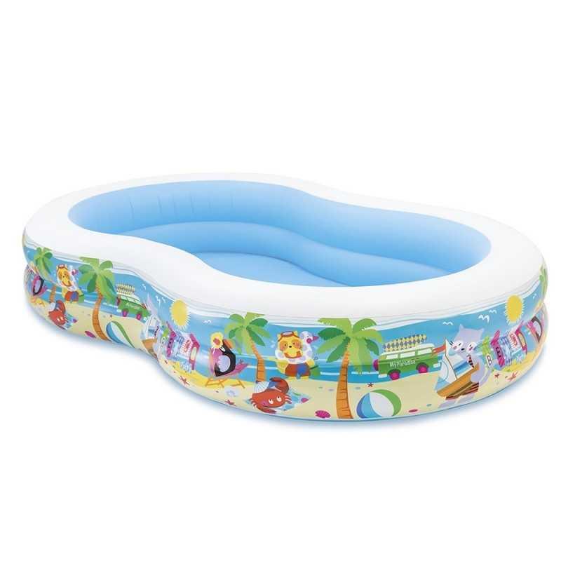 Piscine gonflable Paradis Lagoon 262x160x46 Intex