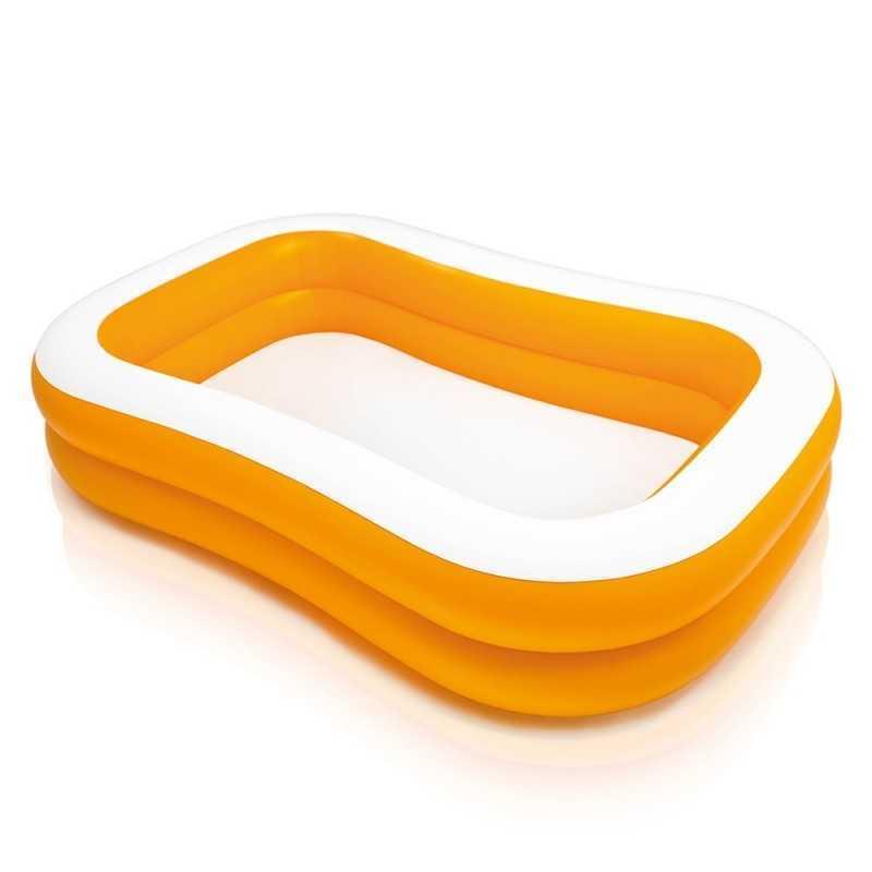 Piscine Rectangle couleur Abricot Intex