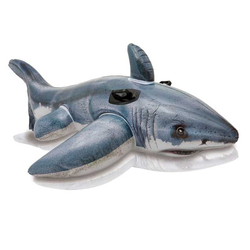Requin gonflable Blanc a Chevaucher Intex