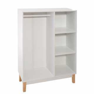 Penderie pour enfant avec 3 cases Blanc