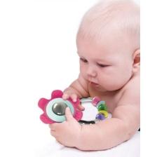 Hochet fleur multicolore Infantino Go Gaga