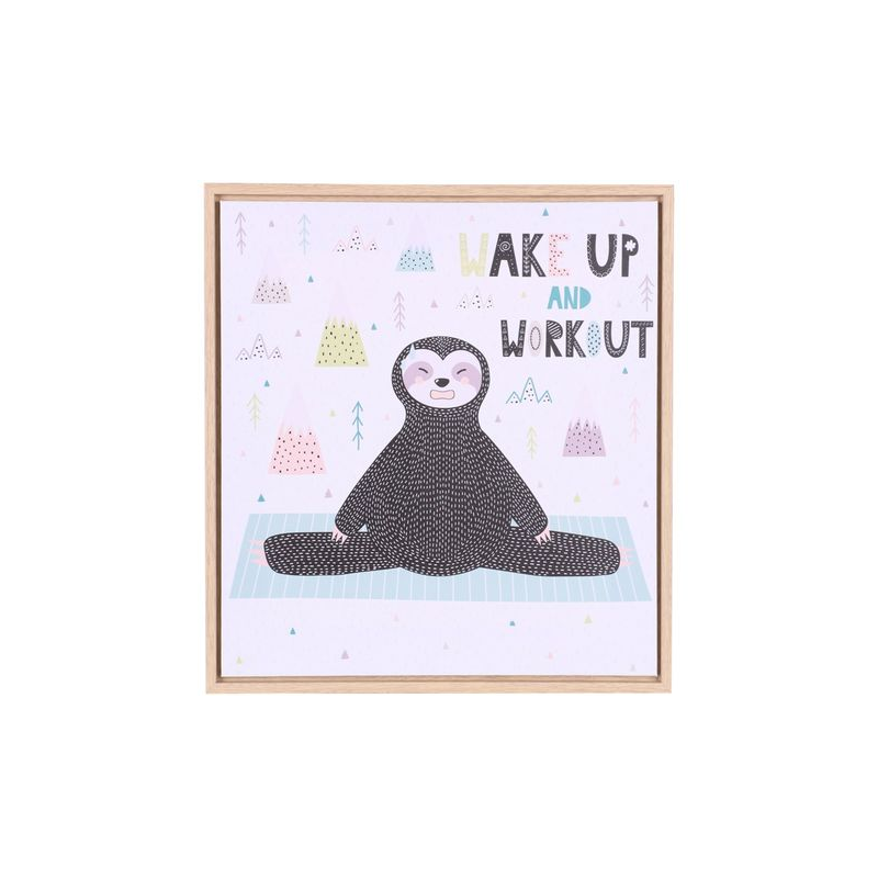 """Toile de chambre pour enfant """"Wake Up And Workout"""" Judy Wild"""