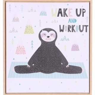 "Toile de chambre pour enfant ""Wake Up And Workout"" Judy Wild"