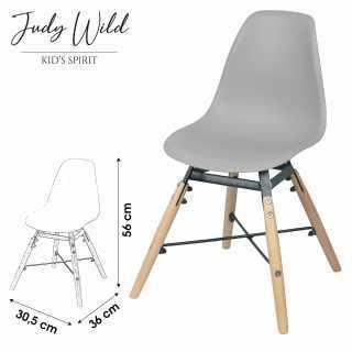Chaise Grise pour enfant Judy Wild