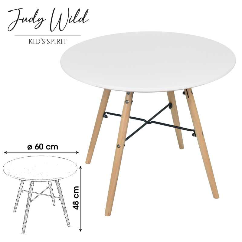 Table blanche pour enfant Judy Wild