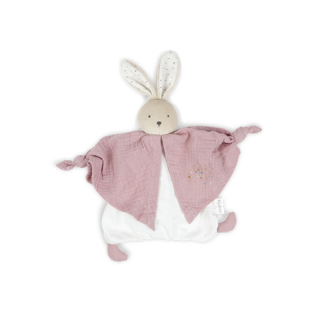 Lapin Doudou en coton bio rose Kaloo