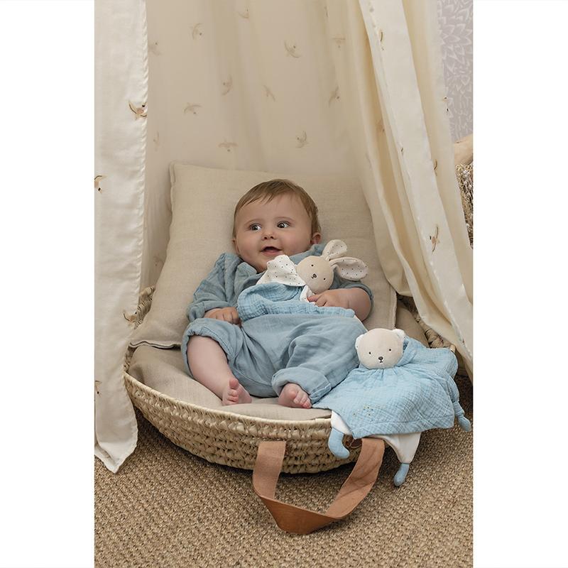 Lapin Doudou en coton bio Bleu Kaloo