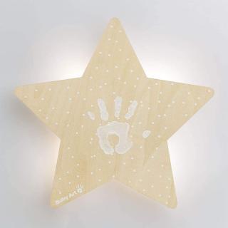 Applique Murale Collection en Bois avec Empreinte Baby Art