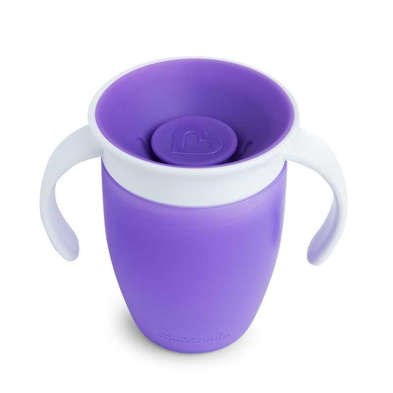 Tasse d'apprentissage 360° sans bec Miracle 207 ml Violette Munchkin