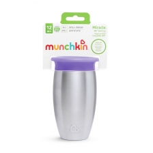 Tasse d'apprentissage 360° en acier Miracle 296 ml Orange Munchkin