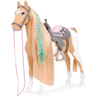 Cheval 51 cm Beige et blanc Our Generation