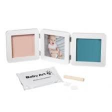 Cadre photo empreinte Baby Art Double Print Frame Blanc