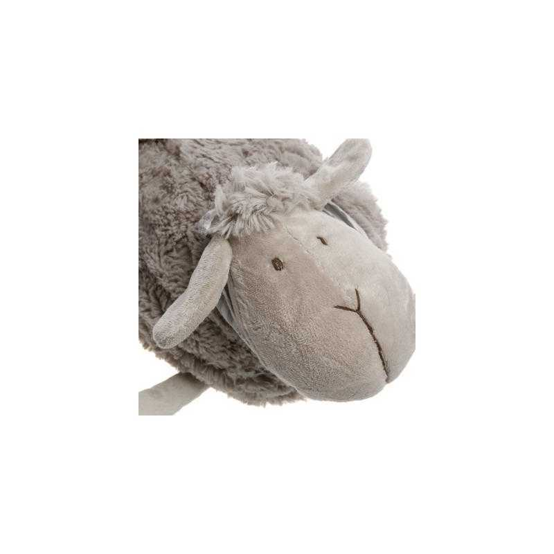 Peluche mouton foulard taupe Atmosphera