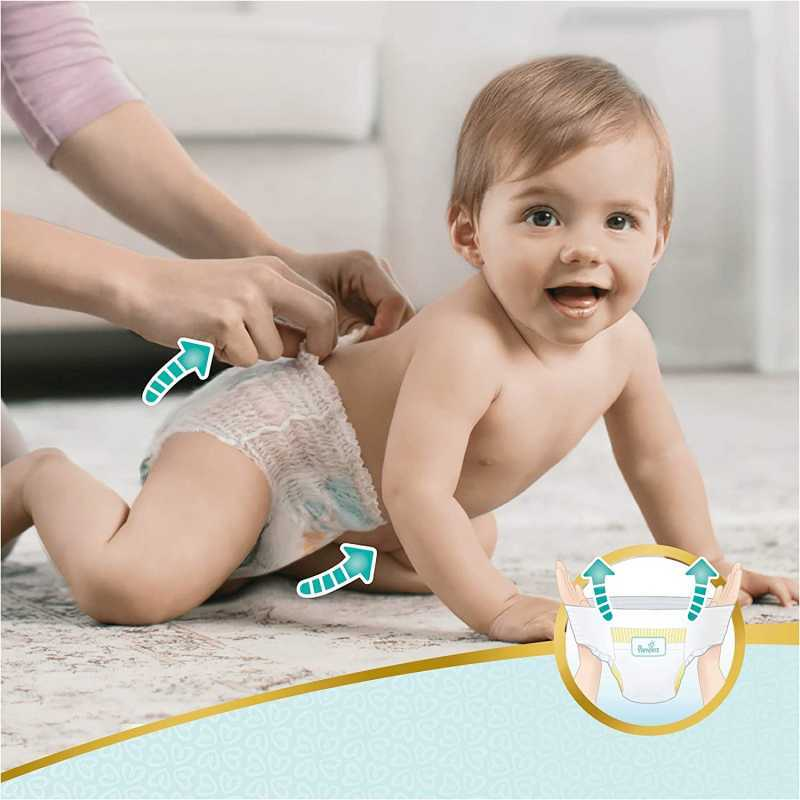 Pampers - Premium protection Nappy Pants - Couches Taille 6 (15kg+) - Pack 1 mois (x120 culottes)
