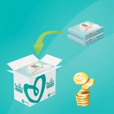 Pampers - Premium protection Nappy Pants - Couches Taille 4 (9-15kg) - Pack 1 mois (x168 culottes)