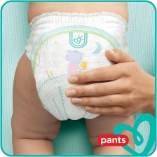 Pampers - Baby Dry Nappy Pants - Couches Taille 7 (17kg+) - Pack 1 mois (x112 culottes)