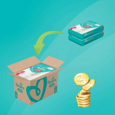 Pampers - Baby Dry Nappy Pants - Couches Taille 5 (12-17kg) - Pack 1 mois (x144 culottes)
