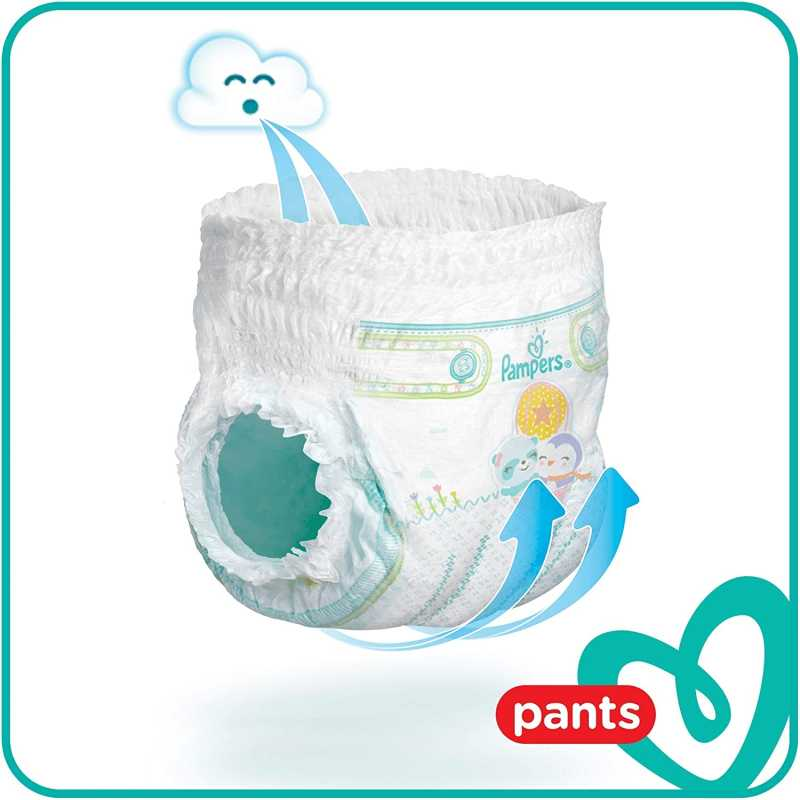 Pampers - Baby Dry Nappy Pants - Couches Taille 4+ (9-15kg) - Pack 1 mois (x152 culottes)