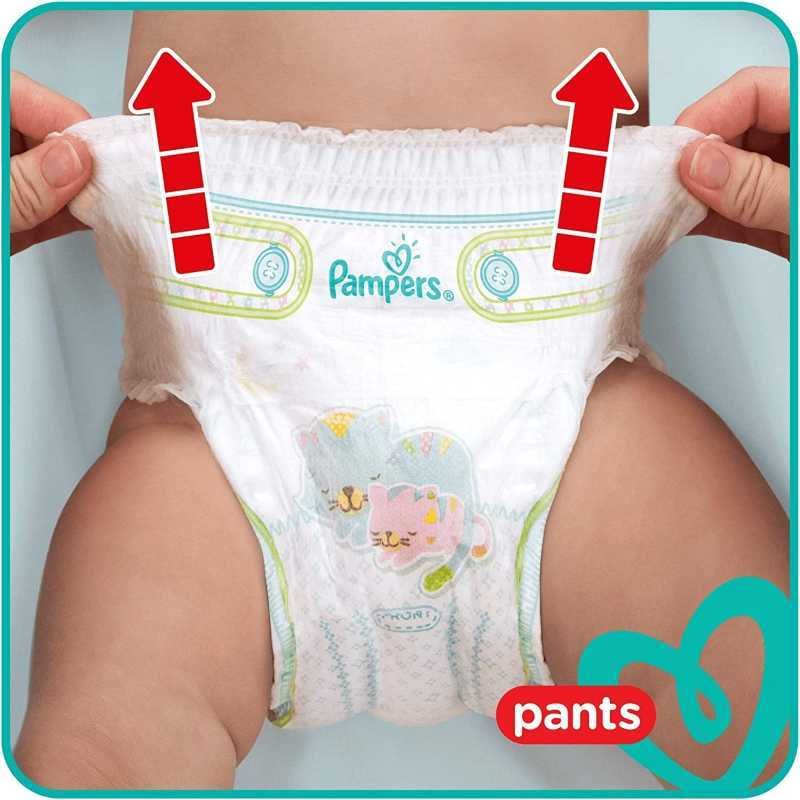 Pampers - Baby Dry Nappy Pants - Couches Taille 4 (9-15kg) - Pack 1 mois (x172 culottes)