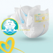 Pampers - Premium protection Couches Taille 3 (6-10 kg) - Pack 1 mois (x204 couches)