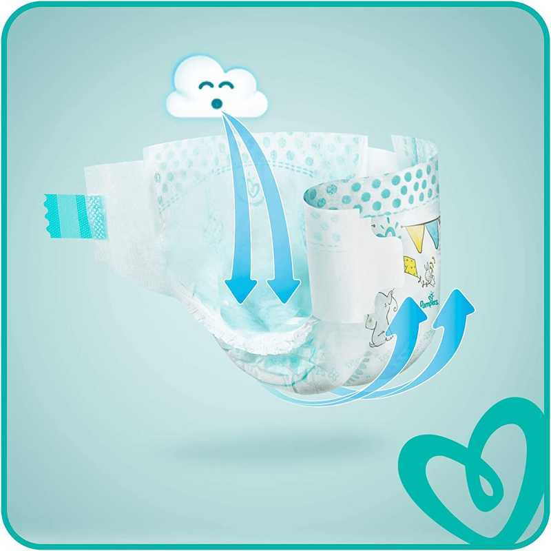 Pampers - Baby Dry Couches Taille 7 (15 kg+) - Pack 1 mois (112 couches)
