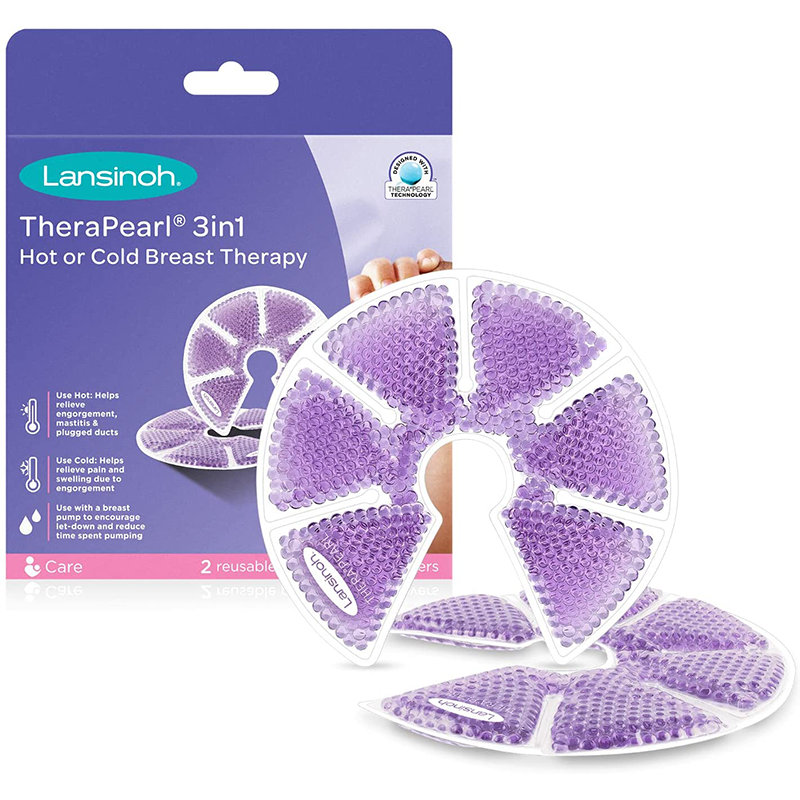 Coussinets Apaisant Chaud / Froid Lansinoh Thera°Pearl 3 en 1