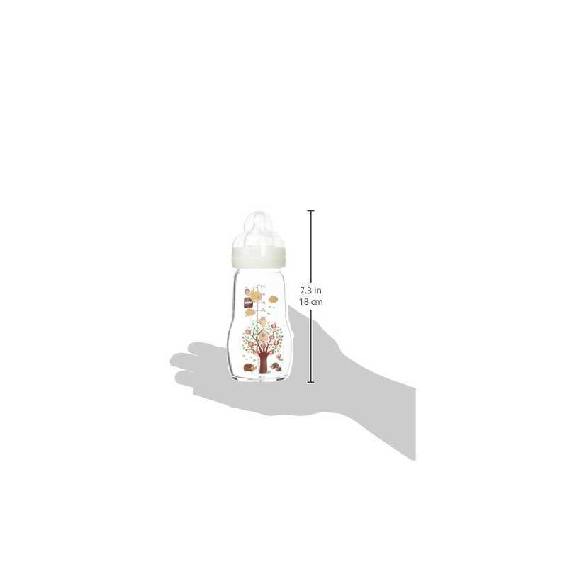 MAM Biberon Verre - 260ml - Blanc - Tétine Débit 2