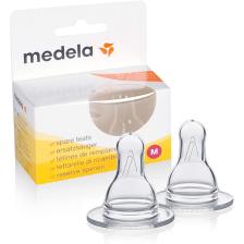 Lot de 2 tétines silicone debit moyen M Medela