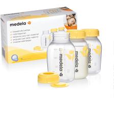 Lot de 3 biberons pour lait maternel 150ml Medela