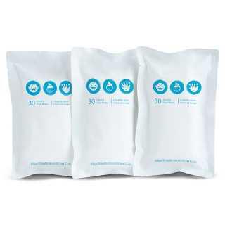 Pack de Lingettes de Rechange Comprend 3 x 30 Lingettes Brica Munchkin
