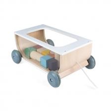 Chariot de Cubes Sweet Cocoon en bois Janod