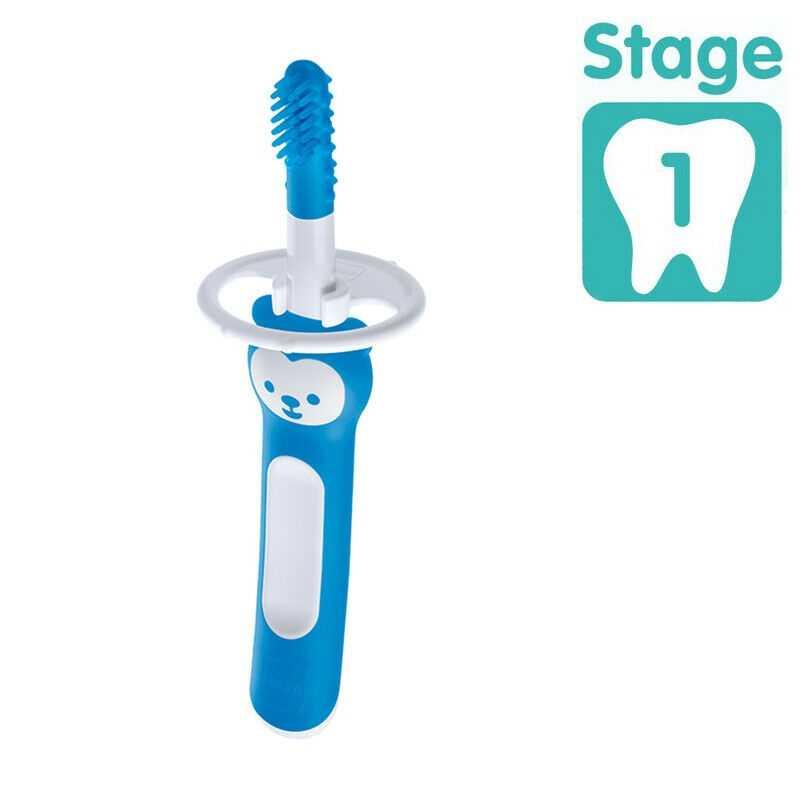 Brosse de massage avec bouclier de sécurité Bleu