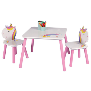 Ensemble table avec 2 chaises SWEET LICORNE