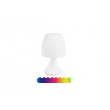 Lampe champignon led coloris blanc - variation de couleur