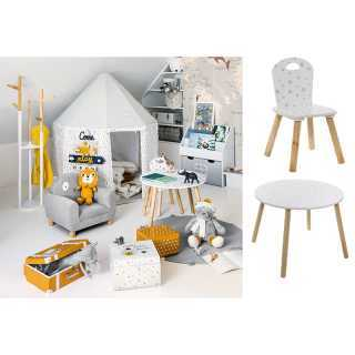 Chaise enfant douceur etoiles Blanc Atmosphera