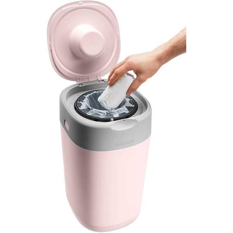 Poubelle à Couches Sangenic Twist & Click Rose + 1 recharge