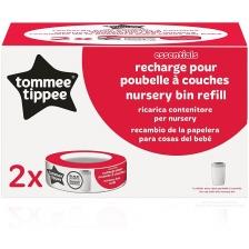 Tommee Tippee Pack de 2 Recharges pour Poubelles à Couches Essentiel et Simplee