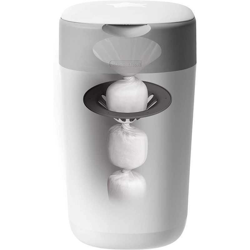 Poubelle à couches Sangenic TWIST & CLICK Blanc + 1 recharge