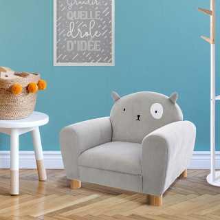 Fauteuil Pour Enfant avec Oreilles de Chat Gris Atmosphera For Kids